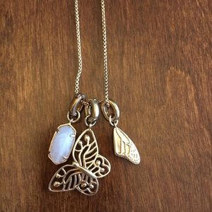 Kendra Scott rose gold butterfly necklace